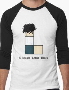 L shaped Tetris block Men's Baseball ¾ T-Shirt