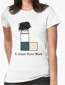 L shaped Tetris block Womens Fitted T-Shirt