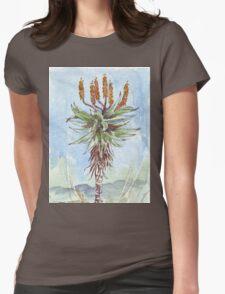 Aloe ferox painting 2 - Botanical Womens Fitted T-Shirt