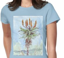 Aloe ferox painting 2 - Botanical Womens Fitted T-Shirt