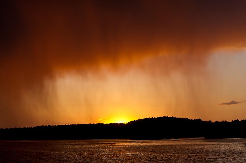 Rainy Sunset by Tom Gotzy