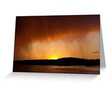 Rainy Sunset Greeting Card