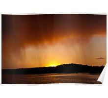Rainy Sunset Poster