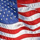 Waving American Flag Close-Up by CuteNComfy