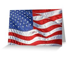 Waving American Flag Close-Up Greeting Card