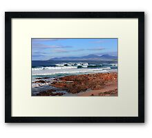 Raw Tasmania Framed Print