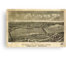 Panoramic Maps Properties of the Delaware River Improvement Company on Morrisville Island Pa Canvas Print