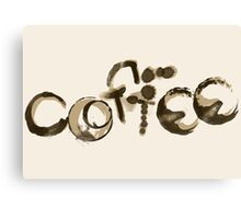 Coffee Stained Canvas Print