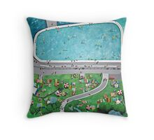 Bondi Beach by Stephanie Burns Throw Pillow