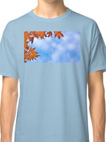 Backlit Maple Leaves in the Cloudy Sky Classic T-Shirt