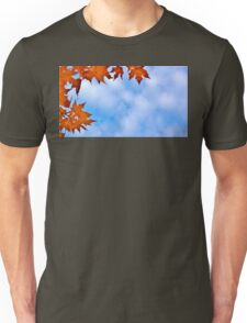 Backlit Maple Leaves in the Cloudy Sky Unisex T-Shirt
