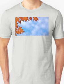 Backlit Maple Leaves in the Cloudy Sky T-Shirt