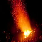 Bonfire - And Atoll, Micronesia by Alex Zuccarelli