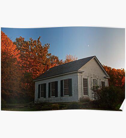 Millbrook Village in Autumn Poster