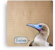 Bird Notes: Explore Canvas Print