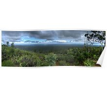 Mt Dale, View from the top, panorama HDR Poster