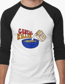 Cereal Killer, Funny Breakfast Food Shirt Men's Baseball ¾ T-Shirt