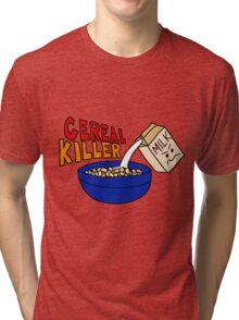 Cereal Killer, Funny Breakfast Food Shirt Tri-blend T-Shirt
