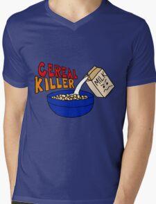 Cereal Killer, Funny Breakfast Food Shirt Mens V-Neck T-Shirt
