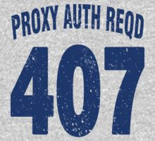 Team shirt - 407 Proxy Auth Reqd, blue letters Kids Clothes