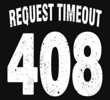 Team shirt - 408 Request Timeout, white letters Kids Clothes