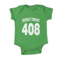 Team shirt - 408 Request Timeout, white letters One Piece - Short Sleeve