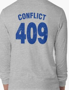 Team shirt - 409 Conflict, blue letters Long Sleeve T-Shirt