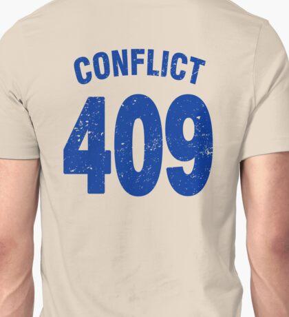 Team shirt - 409 Conflict, blue letters Unisex T-Shirt