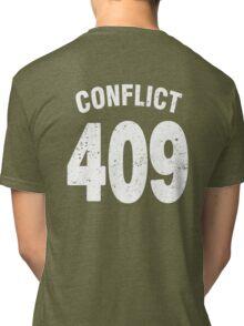 Team shirt - 409 Conflict, white letters Tri-blend T-Shirt