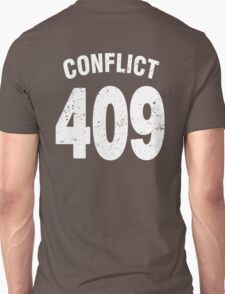 Team shirt - 409 Conflict, white letters T-Shirt