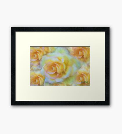 Wallpaper Rose Framed Print
