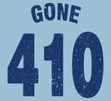 Team shirt - 410 Gone, blue letters Kids Tee