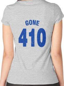 Team shirt - 410 Gone, blue letters Women's Fitted Scoop T-Shirt