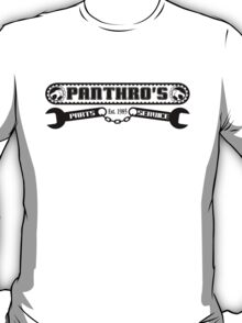 Pantrho's Parts and Service (black) T-Shirt