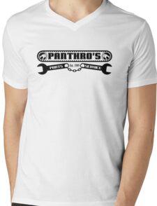 Pantrho's Parts and Service (black) Mens V-Neck T-Shirt