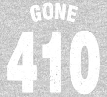 Team shirt - 410 Gone, white letters One Piece - Long Sleeve