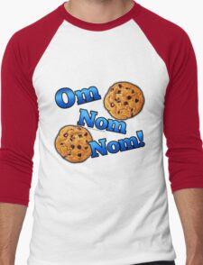 Om Nom Nom, Yummy Cookies Men's Baseball ¾ T-Shirt