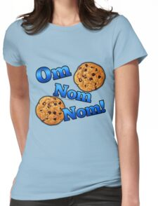 Om Nom Nom, Yummy Cookies Womens Fitted T-Shirt