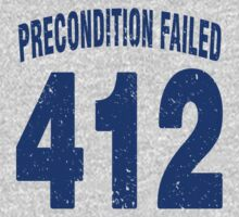 Team shirt - 412 Precondition Failed, blue letters One Piece - Short Sleeve