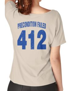 Team shirt - 412 Precondition Failed, blue letters Women's Relaxed Fit T-Shirt