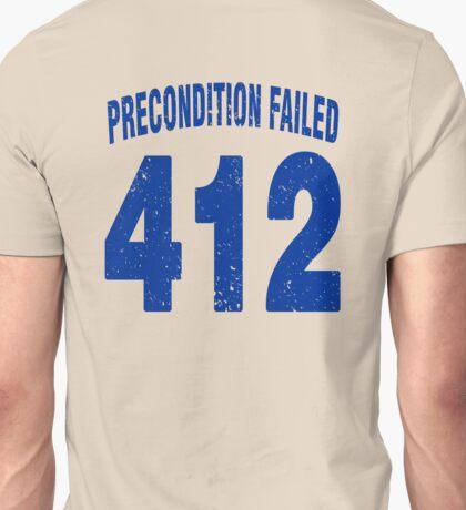 Team shirt - 412 Precondition Failed, blue letters Unisex T-Shirt