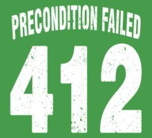Team shirt - 412 Precondition Failed, white letters Baby Tee