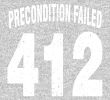 Team shirt - 412 Precondition Failed, white letters One Piece - Long Sleeve
