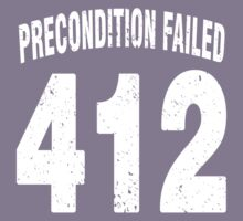 Team shirt - 412 Precondition Failed, white letters Kids Tee