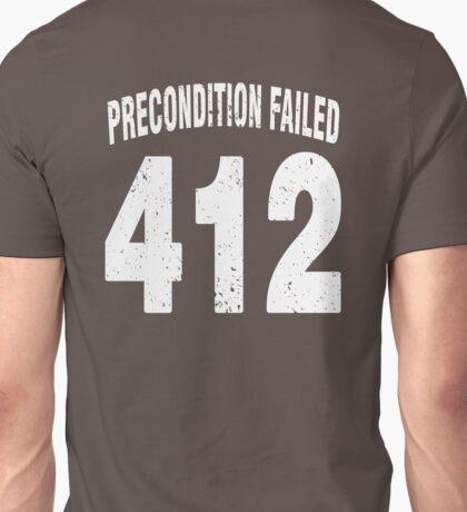 Team shirt - 412 Precondition Failed, white letters Unisex T-Shirt