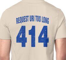 Team shirt - 414 Request URI Too Long, blue letters Unisex T-Shirt