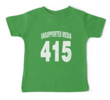 Team shirt - 415 Unsupported Media, white letters Baby Tee