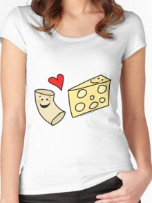 Cute Macaroni and Cheese Love Women's Fitted Scoop T-Shirt
