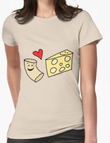 Cute Macaroni and Cheese Love Womens Fitted T-Shirt
