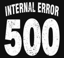 Team shirt - 500 Internal Error, white letters Kids Clothes